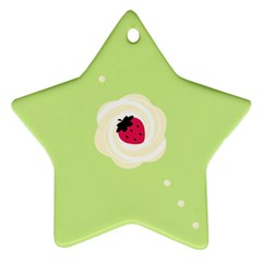 Cake Top Lime Ornament (Star)