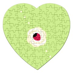 Cake Top Lime Jigsaw Puzzle (Heart)