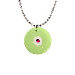 Cake Top Lime 1  Button Necklace