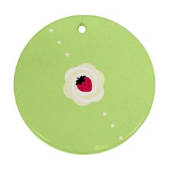 Cake Top Lime Round Ornament (Two Sides)