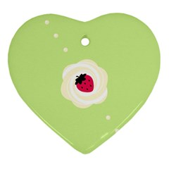 Cake Top Lime Heart Ornament (Two Sides)