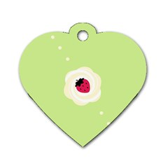 Cake Top Lime Dog Tag Heart (One Side)