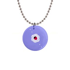 Cake Top Purple 1  Button Necklace