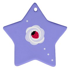 Cake Top Purple Star Ornament (two Sides)