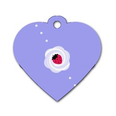 Cake Top Purple Dog Tag Heart (Two Sides)