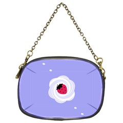 Cake Top Purple Chain Purse (one Side)