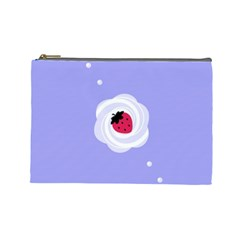 Cake Top Purple Cosmetic Bag (large)