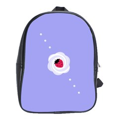 Cake Top Purple School Bag (Large)