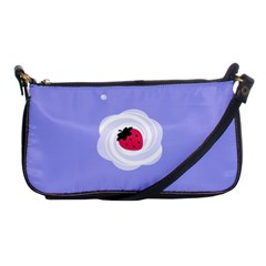 Cake Top Purple Shoulder Clutch Bag
