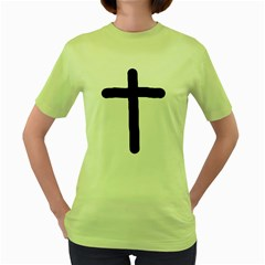 Crosstrans Green Womens  T-shirt