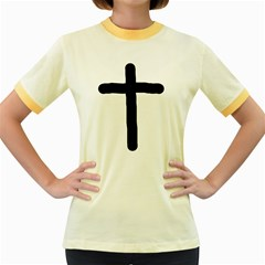 Crosstrans Colored Ringer Womens  T-shirt