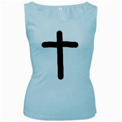 Crosstrans Baby Blue Womens  Tank Top