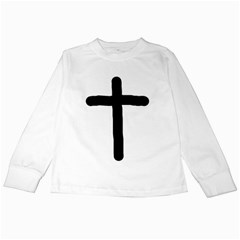 Crosstrans White Long Sleeve Kids'' T-shirt