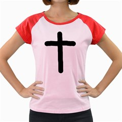 Crosstrans Colored Cap Sleeve Raglan Womens  T-shirt