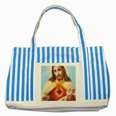 Jesusbackpack Blue Striped Tote Bag