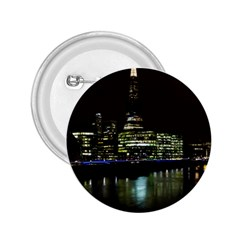 The Shard and Southbank London Regular Button (Round)