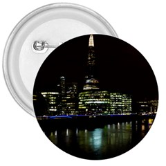 The Shard and Southbank London Large Button (Round)