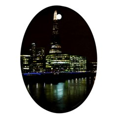 The Shard And Southbank London Ceramic Ornament (oval)