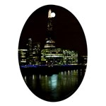 The Shard and Southbank London Ceramic Ornament (Oval) Front
