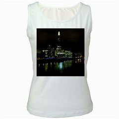 The Shard and Southbank London White Womens  Tank Top