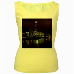 The Shard and Southbank London Yellow Womens  Tank Top