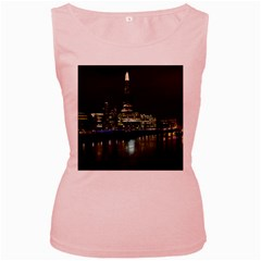 The Shard And Southbank London Pink Womens  Tank Top