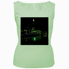 The Shard and Southbank London Green Womens  T-shirt