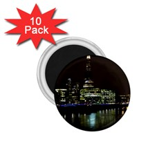 The Shard And Southbank London 10 Pack Small Magnet (round)
