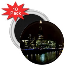 The Shard and Southbank London 10 Pack Regular Magnet (Round)