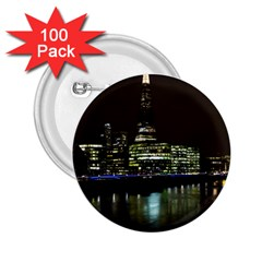 The Shard and Southbank London 100 Pack Regular Button (Round)
