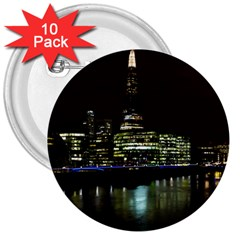 The Shard and Southbank London 10 Pack Large Button (Round)
