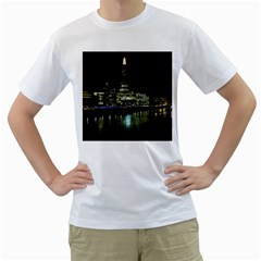 The Shard And Southbank London White Mens  T Shirt