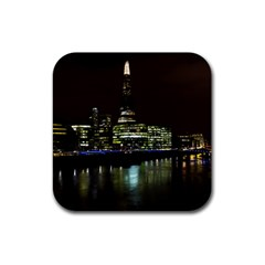 The Shard and Southbank London 4 Pack Rubber Drinks Coaster (Square)