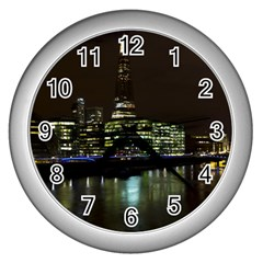 The Shard and Southbank London Silver Wall Clock