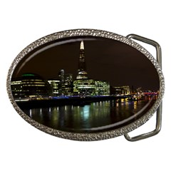 The Shard and Southbank London Belt Buckle (Oval)