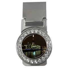 The Shard And Southbank London Money Clip With Gemstones (round)
