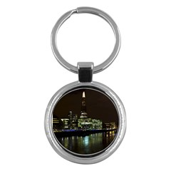 The Shard And Southbank London Key Chain (round)