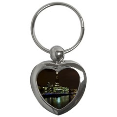 The Shard and Southbank London Key Chain (Heart)