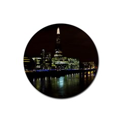 The Shard and Southbank London 4 Pack Rubber Drinks Coaster (Round)