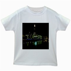 The Shard and Southbank London White Kids'' T-shirt
