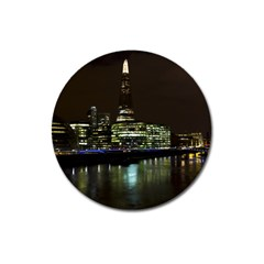 The Shard And Southbank London Large Sticker Magnet (round)