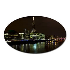 The Shard and Southbank London Large Sticker Magnet (Oval)