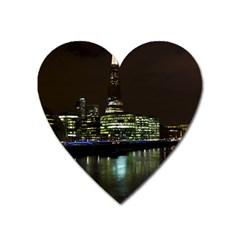 The Shard and Southbank London Large Sticker Magnet (Heart)