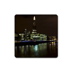 The Shard And Southbank London Large Sticker Magnet (square)