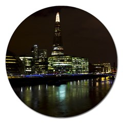 The Shard And Southbank London Extra Large Sticker Magnet (round)