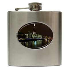 The Shard and Southbank London Hip Flask