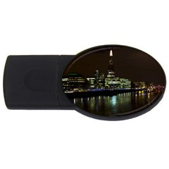 The Shard and Southbank London 1Gb USB Flash Drive (Oval)