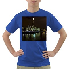 The Shard and Southbank London Colored Mens'' T-shirt
