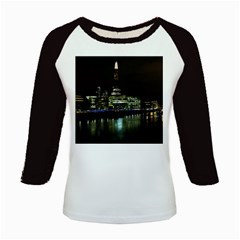 The Shard And Southbank London Long Sleeve Raglan Womens'' T Shirt
