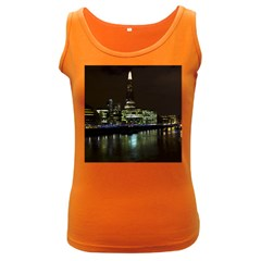 The Shard and Southbank London Dark Colored Womens'' Tank Top